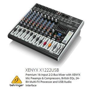 BEHRINGER/べリンガー X1222USB XENYX USBオーディオインターフェース搭載 アナログ・ミキサー