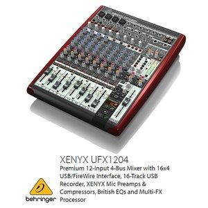 BEHRINGER/べリンガーUFX1204 XENYX USBオーディオインターフェース/16トラックUSBレコーダー搭載アナログ・ミキサー