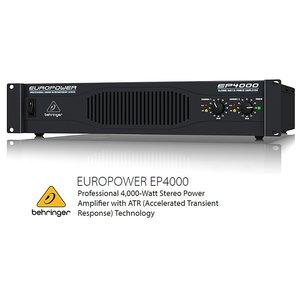 BEHRINGER/べリンガー EP4000 EUROPOWER 2000W×2(2Ω) ステレオ・パワーアンプ