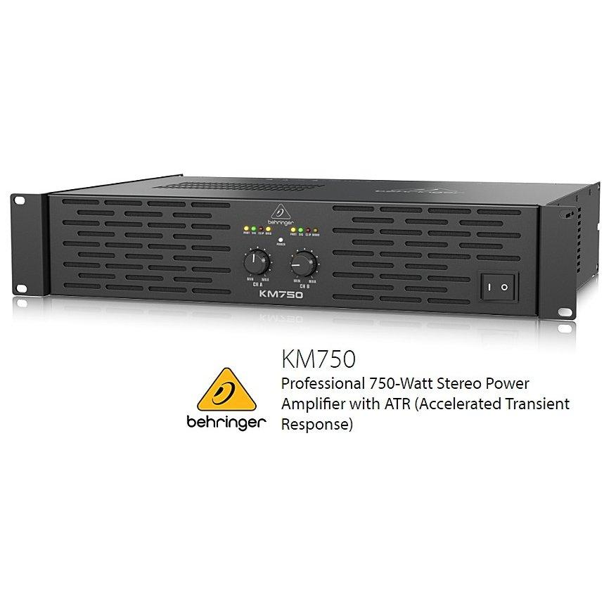 BEHRINGER/べリンガー KM750 400W×2(4Ω) ステレオ・パワーアンプ KM-750