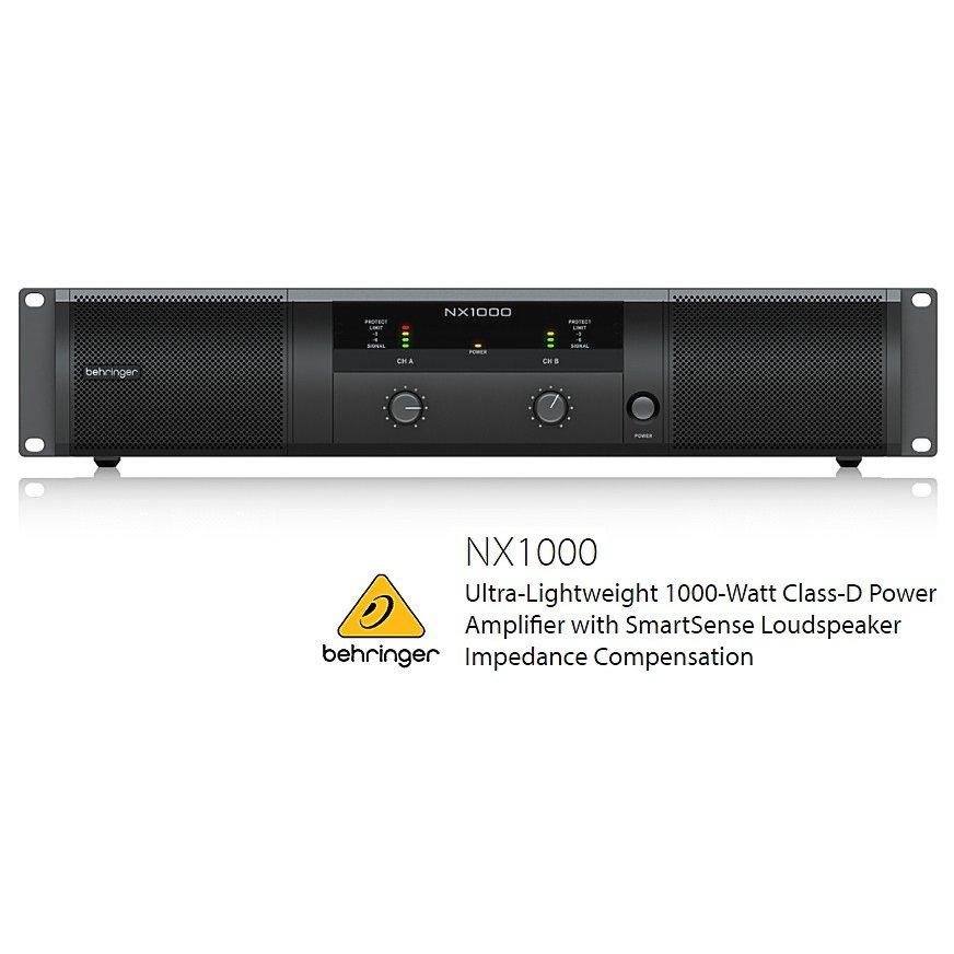 BEHRINGER/べリンガー NX1000 500W×2(2Ω) ステレオ・パワーアンプ NX-1000