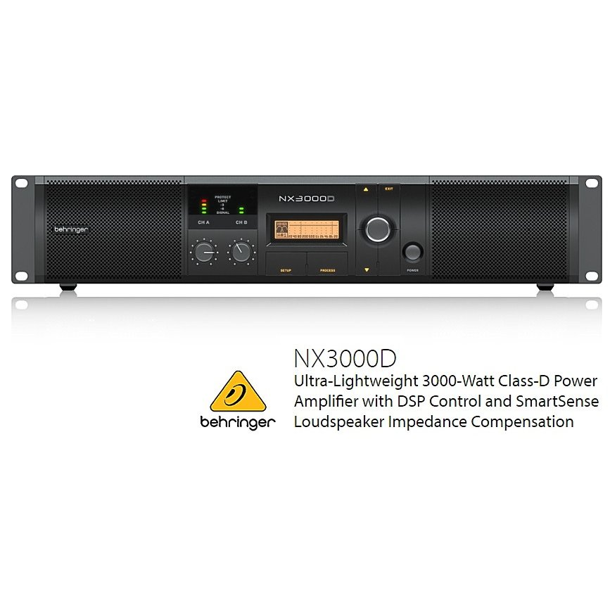 BEHRINGER/べリンガー NX3000D 1500W×2(2Ω) DSP搭載クラスDステレオ・パワーアンプ NX-3000-D