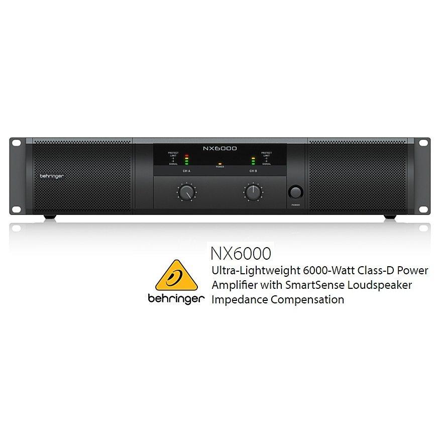 BEHRINGER/べリンガー NX6000 3000W×2(4Ω) クラスDステレオ・パワーアンプ NX-6000