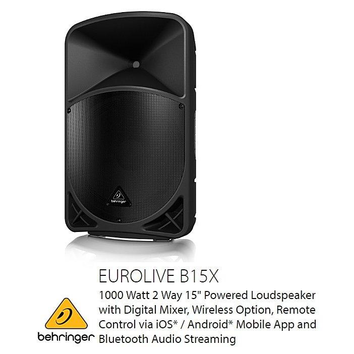 BEHRINGER(ベリンガー)B15X EUROLIVE 2-Way 15インチ パワードスピーカー