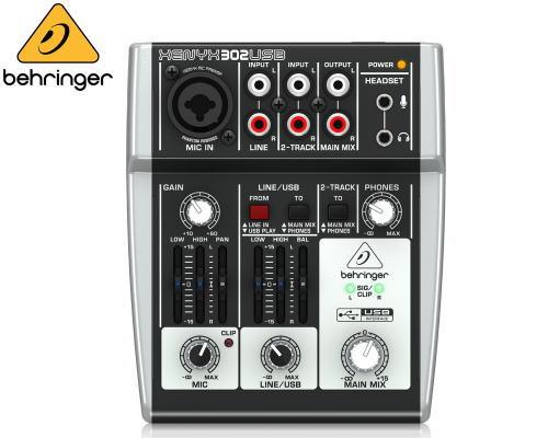 Behringer ベリンガー アナログミキサー 302 USB 格安 価格でご提供いたします XENYX タイムセール