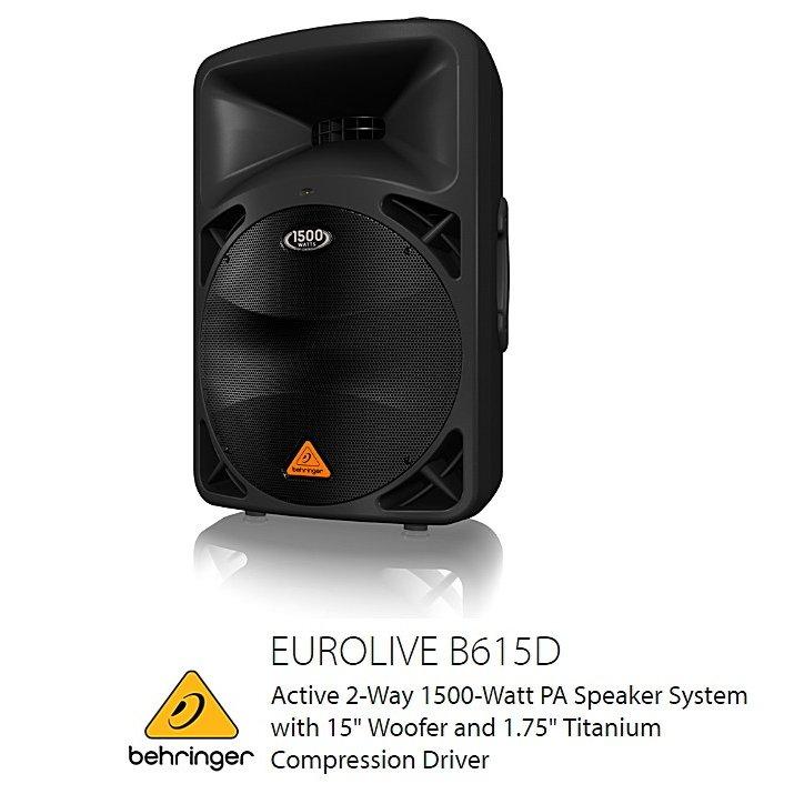 BEHRINGER/べリンガー 15インチ 1500W パワード2-Wayフルレンジ・スピーカー B615D EUROLIVE