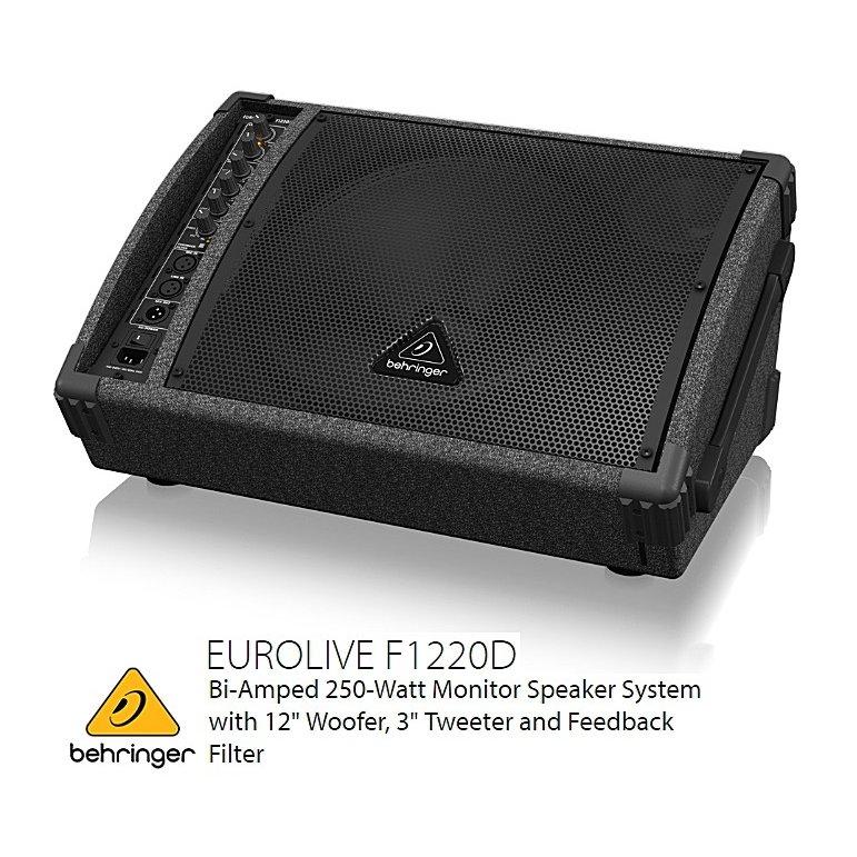 BEHRINGER/べリンガー 12インチ パワード2-Wayフルレンジ・フロアーモニター F1220D EUROLIVE