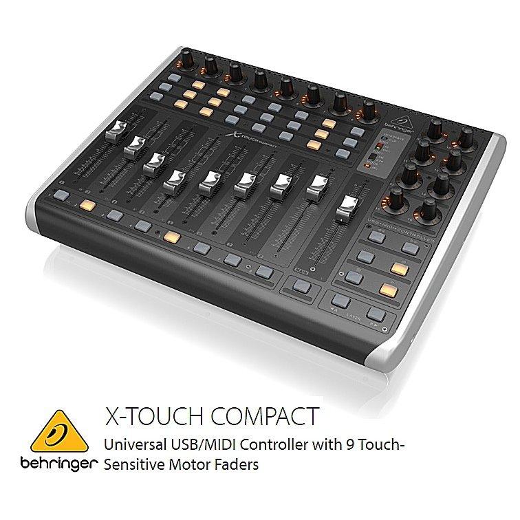 BEHRINGER/べリンガー 9系統タッチセンサー付100mmモーターフェーダー搭載イーサネット/USB/MIDIコントローラー X-TOUCH COMPACT