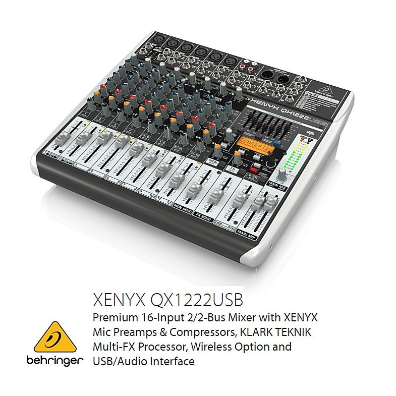 Behringer(ベリンガー)アナログミキサー QX1222 USB XENYX XENYX, p.o.s.h. Online Store:f7200f34 --- ww.thecollagist.com