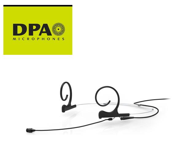 DPA CORE4266-OC-F-B00-MH デュアルイヤー・ヘッドセット・マイクロホン ミディアムブーム、MicroDot/黒