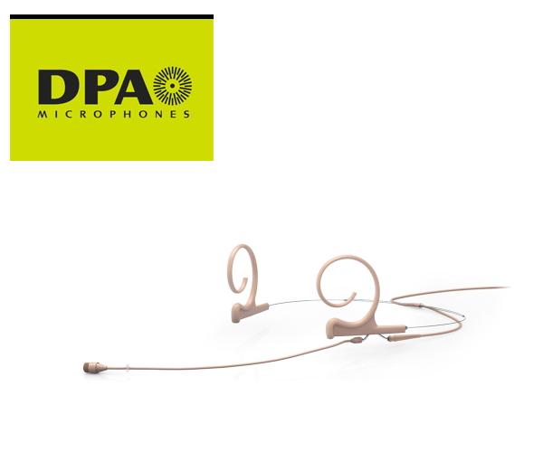 DPA CORE4266-OC-F-F00-LH デュアルイヤー・ヘッドセット・マイクロホン ロングブーム MicroDot/ベージュ