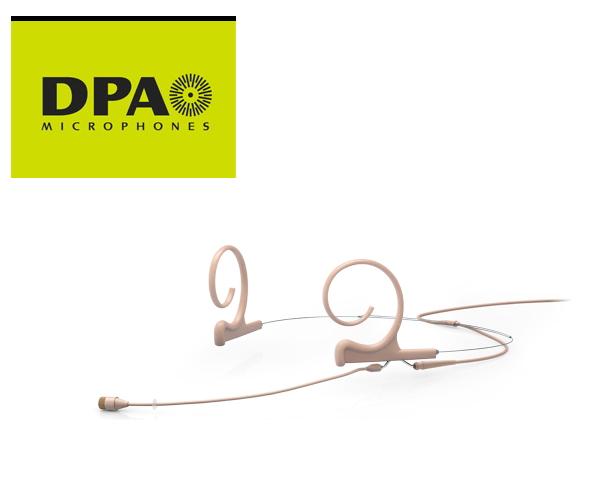 DPA CORE4266-OC-F-F00-MH デュアルイヤー・ヘッドセット・マイクロホン ミディアムブーム、MicroDot/ベージュ