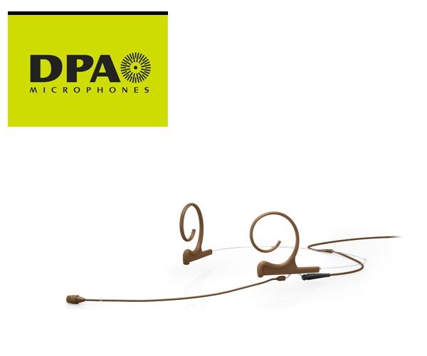 DPA CORE4266-OC-F-C00-LH デュアルイヤー・ヘッドセット・マイクロホン ロングブーム MicroDot端子/茶