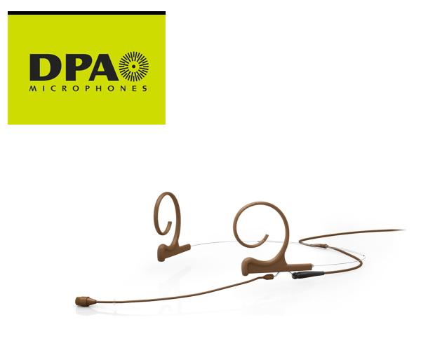 DPA CORE4266-OC-F-C00-MH デュアルイヤー・ヘッドセット・マイクロホン ミディアムブーム、MicroDot/茶
