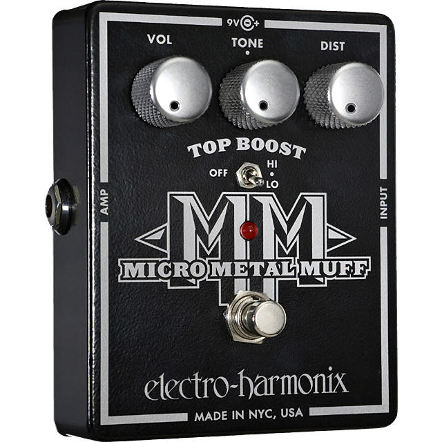 【Electro-Harmonix】Micro Metal Muff(マイクロメタルマフ) ディストーション with Top Boost【EHX/エレクトロ・ハーモニクス】