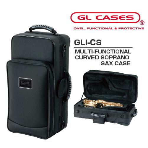 【GL CASES】GLI-CS カーブドソプラノサックス用セミハードケース