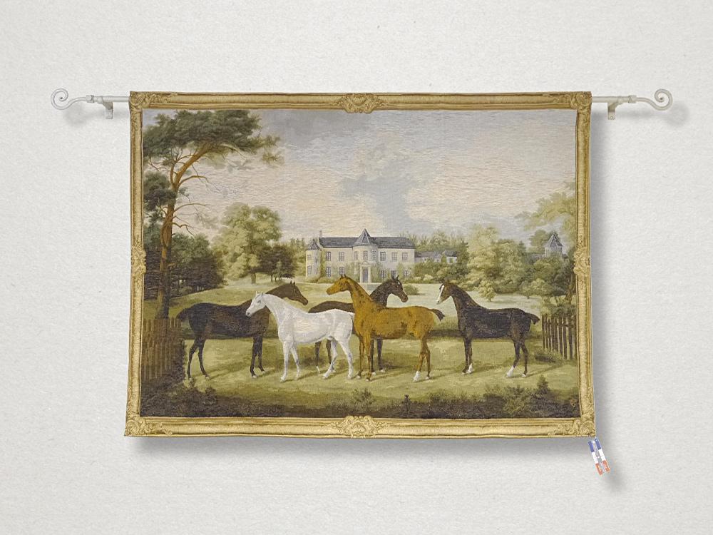 【受注生産品】ART de LYS(アールドリス)ART DE LYS (アールドリス) タペストリー 9240 / Chevaux 150×110 Friedrich Wilhelm Keyl フランス製 ポスター 画家 絵画 壁面装飾 インテリア