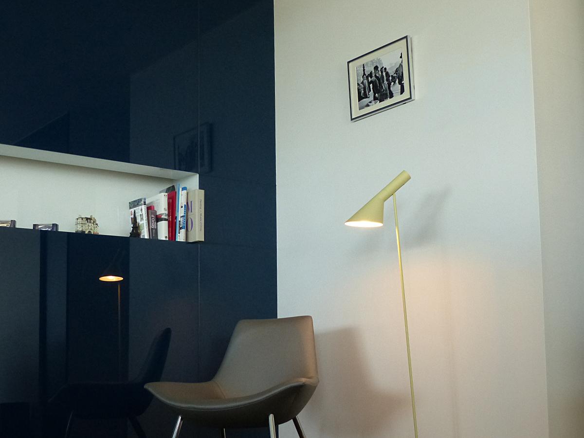 AJ フロアライト ベージュ LED電球付 アルネ・ヤコブセン Arne Jacobsen デザイナーズ フロアランプ インテリア照明 ソファ リビング スポットライト リプロダクト 間接照明 北欧 スタンドライト アルネヤコブセン フロアスタンド