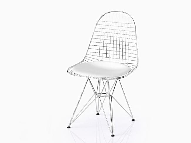 【完成品 リプロダクト/組立済 椅子】イームズ Chair シェルチェア DKR ワイヤーチェア シートパッド付(ホワイト) エッフェルベース Shell Chair ミッドセンチュリー デザイナーズ EAMES リプロダクト ダイニングチェア 椅子 05P26Apr14, 作東町:d6fd7339 --- sunward.msk.ru
