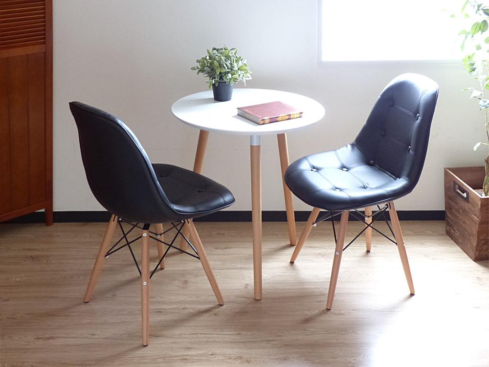 イームズ シェルチェア DSW ソフトレザー レッグカラー全2色 ブラック ダイニングチェア ミッドセンチュリー 通販 激安 デザイナーズチェア 椅子 EAMES お得クーポン発行中 食卓 ウッドベース チャールズ イス リプロダクト レイ