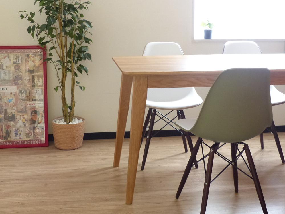 Hans(ハンス) ダイニングテーブル 135 / オーク材 テーブル リビング コーヒーテーブル お洒落 北欧 西海岸 インテリア デザイナーズ テーブル 机 棚 無垢 天然木 ダイニング キッチン HANS