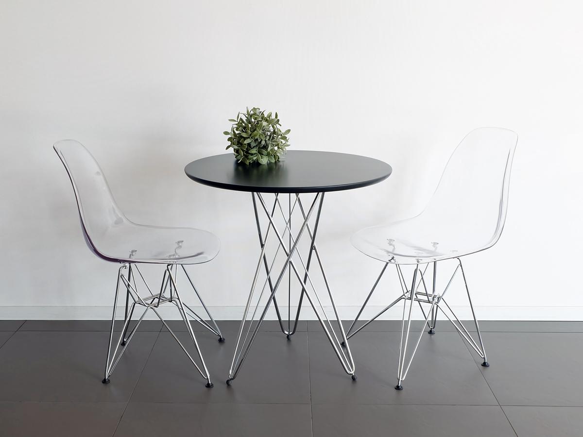 イームズチェアとの相性も抜群なラウンドテーブル ワイヤーレッグテーブル ブラック 68cm幅 ダイニングテーブル サイドテーブル 奉呈 丸テーブル リビング 新品未使用 コーヒーテーブル ラウンドテーブル