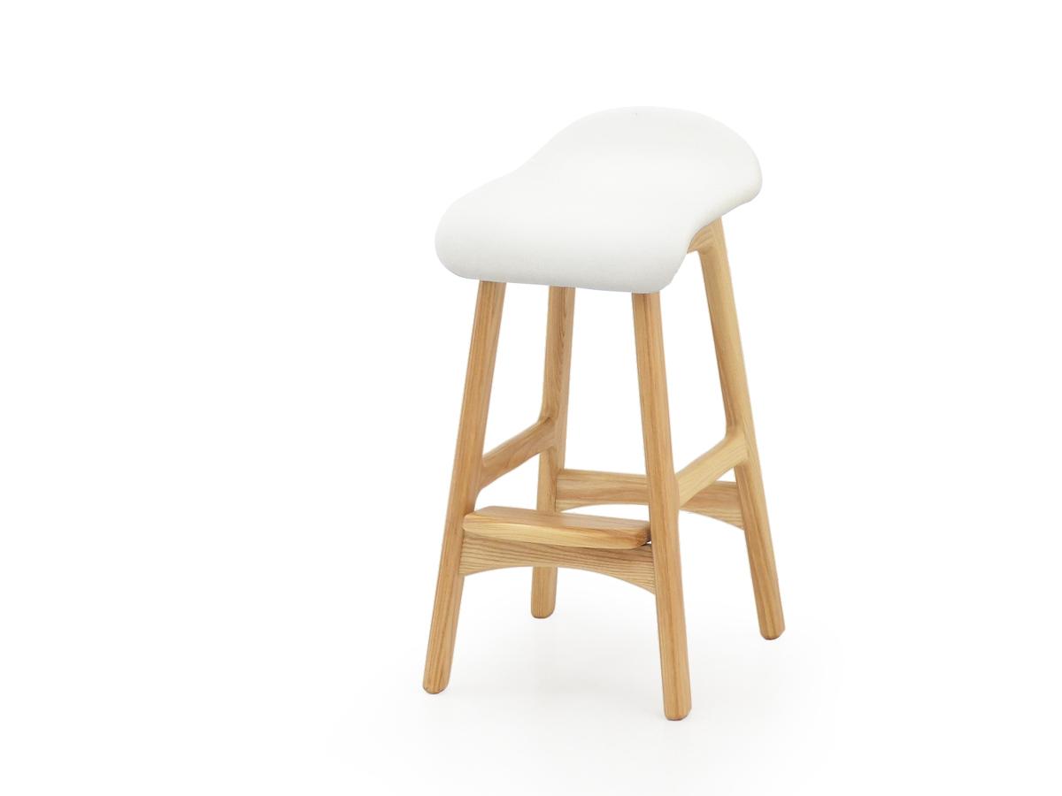 Jolie ハイスツール ホワイト バースツール レザースツール チェア イス 椅子 ウッド バーチェア 玄関スツール お洒落 スツール ベンチ クッション インテリア カウンターチェア カウンタースツール