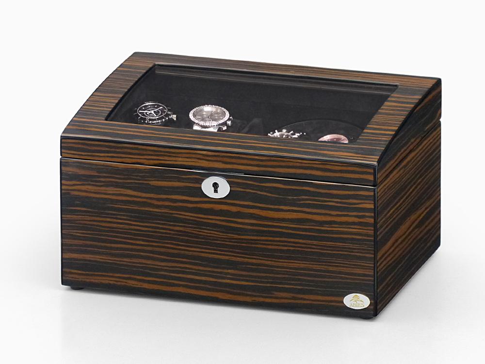 ワインディングマシーン 2本巻 エボニー 天然木使用 黒檀 限定仕様 Abies(アビエス) マブチモーター ワインディングマシン 収納ケース メンズ レディース 腕時計 自動巻き ウォッチケース 時計ケース ワインダー ギフト プレゼント 父の日