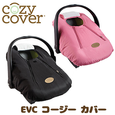 EVC Cozy Cover Pink Black Car Seat Stroller Rain Wind Cold