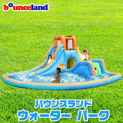 【大型遊具】バウンスランド インフレータブル カスケード ウォーター スライド with プール スライダー 滑り台 すべり台 クライミング 水遊び 子供用 家庭用 Bounceland Inflatable Cascade Water Slide with Pool
