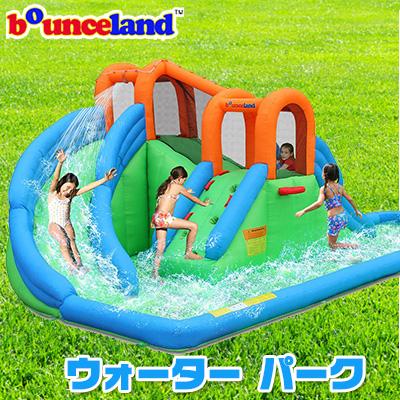【お取り寄せ】【大型遊具】バウンスランド アイランド ウォーター パーク ウォーター スライド スライダー 滑り台 すべり台 クライミング トンネル 水遊び 子供用 家庭用 Bounceland Island Water Park Water Slide