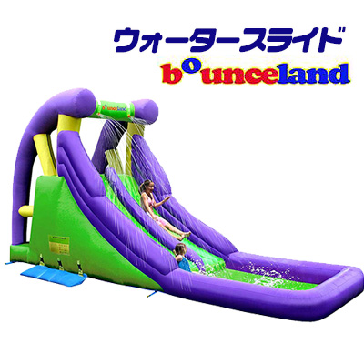 【在庫有り】【大型遊具】バウンスランド ダブル ウォータースライド with スプラッシュ プール スライダー 滑り台 すべり台 クライミング 水遊び 子供用 家庭用 Bounceland Double Water Slide with Splash Pool