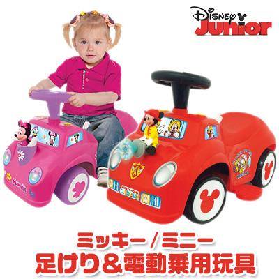【在庫有り】【送料無料】ディズニー ミッキーマウス / ミニーマウス 2-in-1 バッテリー パワー アクティビティ ライドオン キッズ ジュニア おもちゃ 電動乗用玩具 足けり 乗り物 サウンド ライト Kiddieland 2-in-1 Battery-Powered Activity Ride-On