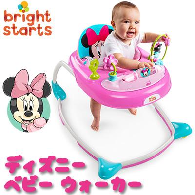 【在庫有り】【送料無料】ディズニー ベビー ミニーマウス ピーカブー ウォーカー 歩行器 ベビー 赤ちゃん ベビーウォーカー トレーニング トイステーション おもちゃ 折りたたみ 室内 セーフティーグッズ 軽量 コンパクト Disney Baby Minnie Mouse PeekABoo Walker