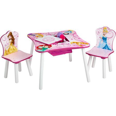 델타 디즈니 프린세스 수납 테이블 & 체 어 2 다리 세트 신데렐라 벨 백설 공주 라 푼 젤 아리엘 오로라 공주 아동 가구 어린이 방의 자의 자 식탁 공부 책상 수납 정리