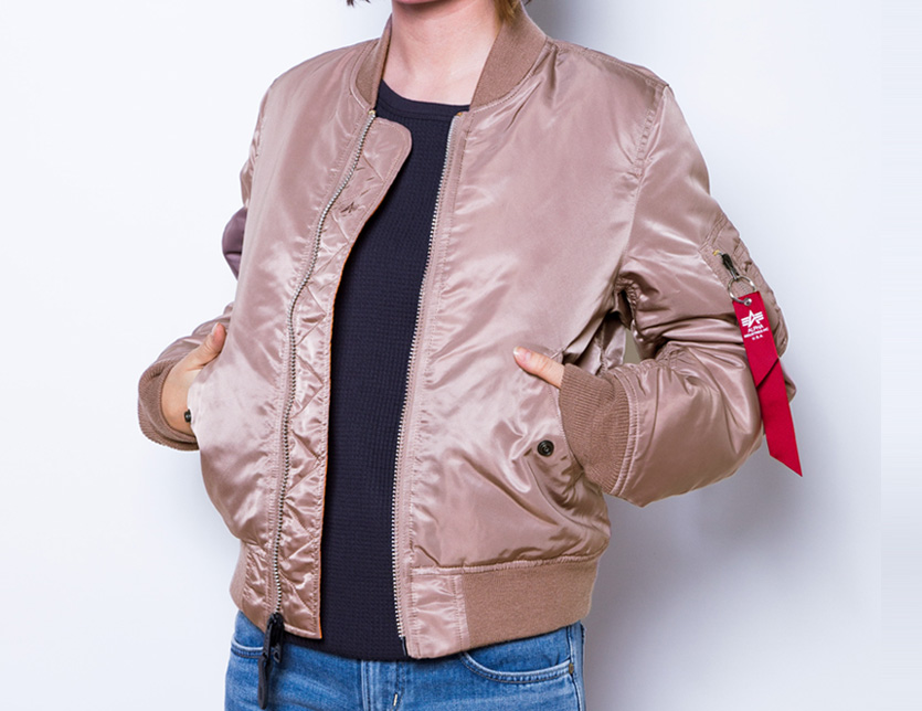 7676f790a ALPHA alpha MA-1 Lady's ma1 flight jacket outer military plain fabric pink  reversible outer nylon alpha industry ALPHA INDUSTRIES street TA7010 summer  ...
