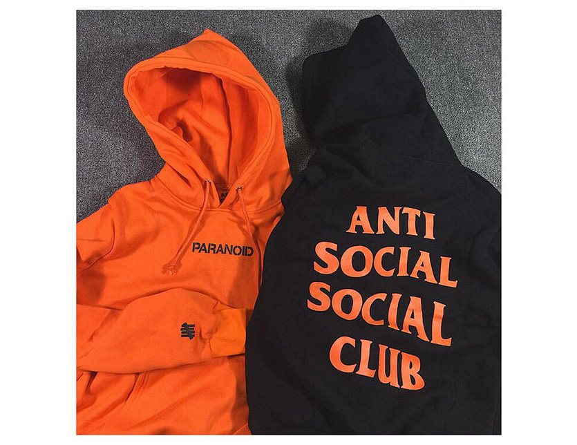Anti Social Social Club x Undefeated Paranoid Hoodie Black