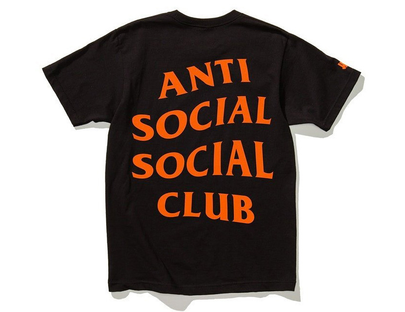 0435c2890837 Anti Social Social Club T-shirt Lady s men unisex short-sleeved big size antisocial  social club Undefeated PARANOID TEE アンディフィーデットブランド ...
