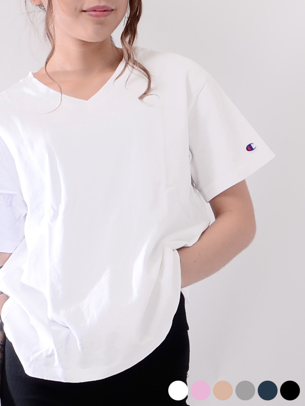 c1548d9cf9a6 It is a present giftwrapping in CHAMPION champion T-shirt Lady's short  sleeves cotton 100 ...