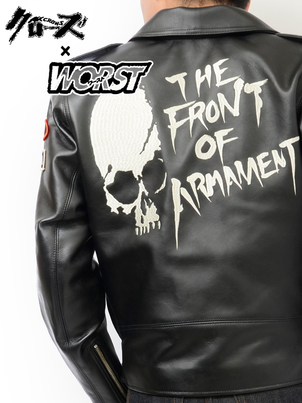 d5ddc951 CROWS×worst close × worst leather riders jacket T.F.O.A armed front 5th  embroidery TF- ...