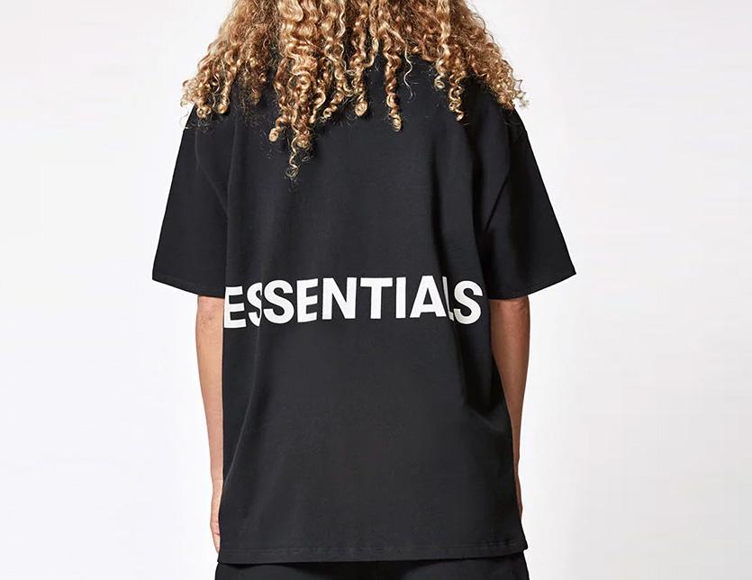 f091477a1626 504944 Fear of God T-shirt men gap Dis unisex short sleeves FOG ESSENTIALS  F.O.G Fear of god Fear of god F Aussie essential haze big size Boxy Graphic  ...