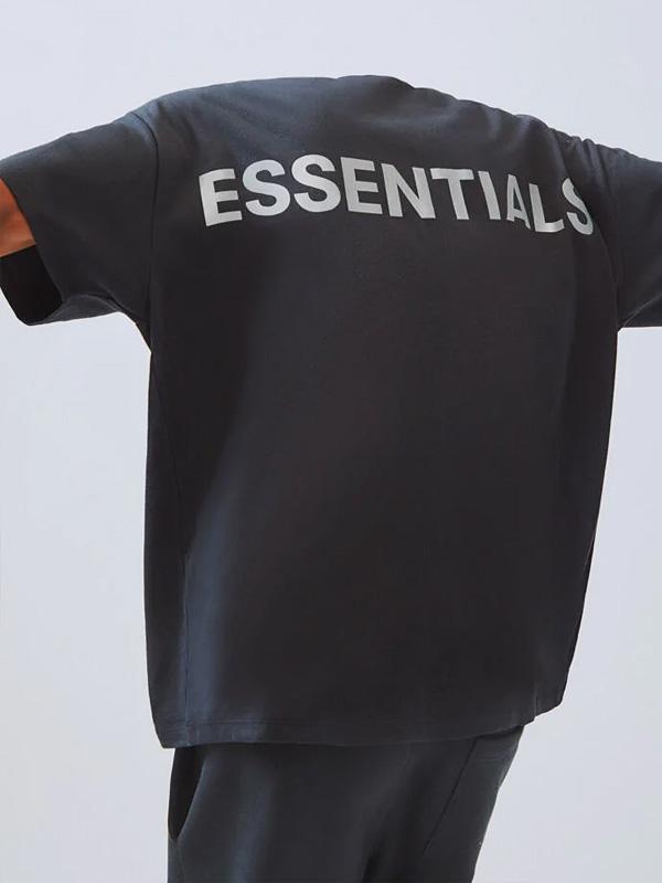 Fear of God essentials Tシャツ メンズ レディース ユニセックス 半袖 FOG ESSENTIALS F.O.G フィア オブ ゴッド フィアオブゴッド エフオージー エッセンシャルズ フォグ Boxy REFLECTIVE リフレクター ボクシ― 黒 REFLECTIVE-SS-B 母の日 ギフト プレゼント ラッピング