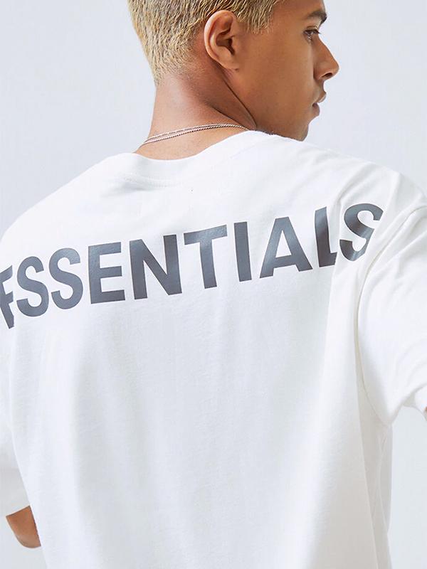 Fear of God essentials Tシャツ 半袖 メンズ レディース FOG 新生活 ESSENTIALS 送料無料 エフオージー はFear Of 白 フィアオブゴッド リフレクター F.O.G ユニセックス ゴッド REFLECTIVE フィア フォグ オブ REFLECTIVE-SS-W エッセンシャルズ Godが2015年に新たに展開するセカンドライン メーカー公式ショップ