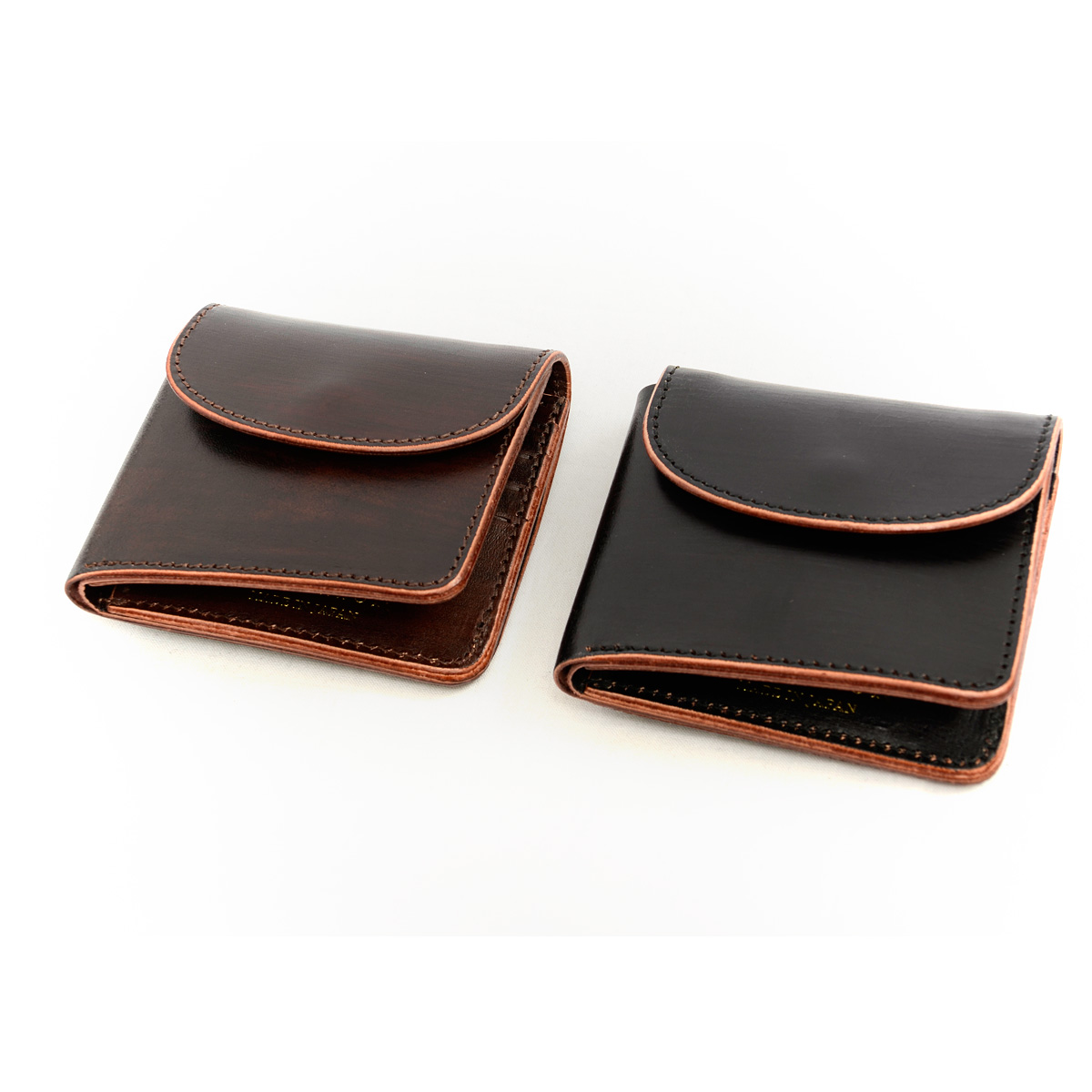 Inception INCEPTION wallet mens short wallet leather Leather Brown core IPCH-02 wallet