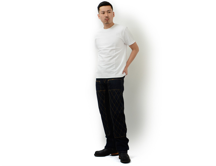 RNB-1017 made in Kojima jeans KOJIMA jeans denim underwear 13 ounces Kevlar double knee straight Japan