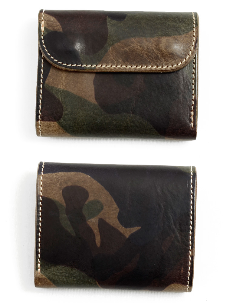OPUS Opus mini wallet Camo camouflage short leather leather leather OCW-C1