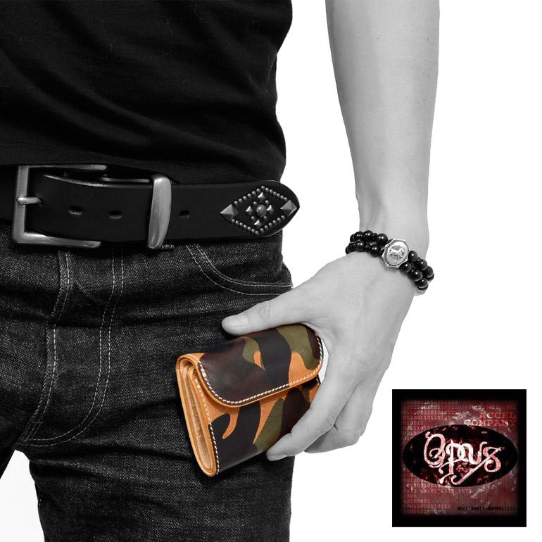 OPUS オーパス ミニ ウォレット 迷彩 カモフラージュ ショート レザー 革 皮 OCW-C2  新生活 ギフト プレゼント ラッピング