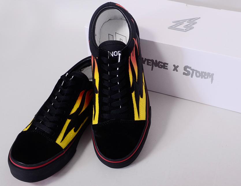 f1152a5d31bd6e REVENGE X STORM revenge X storm sneakers men gap Dis unisex-limited model  REVENGESTORM revenge storm BLACK FLAME low-frequency cut canvas suede shoes  shoes ...