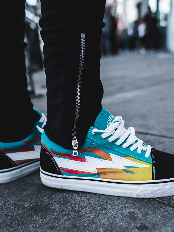1e59746d5c5d Vans REVENGE-LGF of REVENGE X STORM revenge X storm sneakers men gap Dis  unisex-limited model REVENGESTORM revenge storm GREEN FLAME low-frequency  cut ...