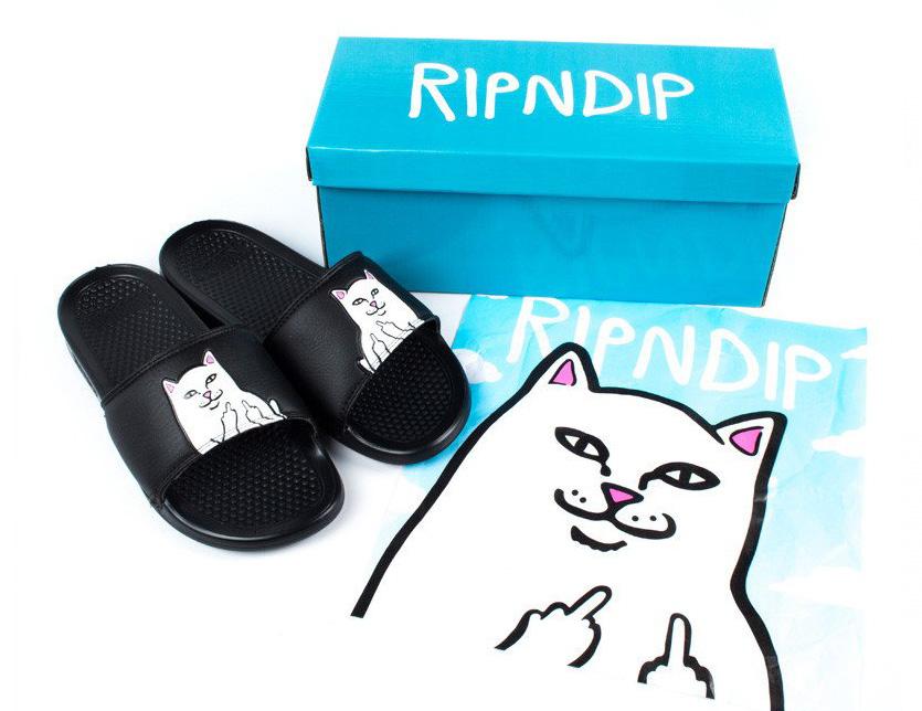 rodeo bros ripndip リップンディップサンダルシャワーサンダルネコ cat